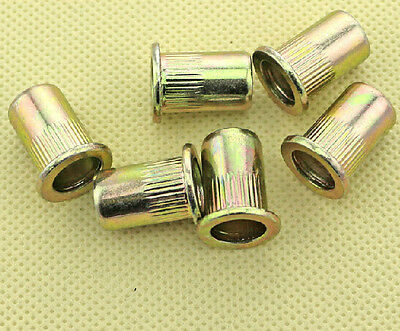 Nut to crimp Insert steel zinc plated M4 (4X6X11) Lot of 10 4 mm