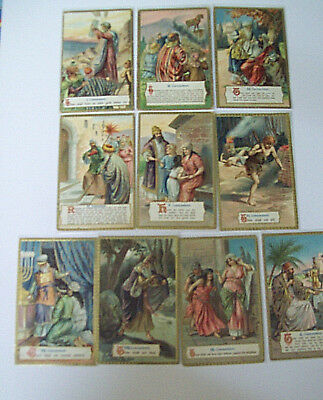 THE TEN COMMANDMENTS RALPH  TUCK  #163  P postcard complete set
