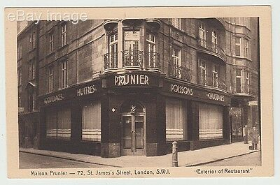 Maison Prunier - French seafood restaurant St James Street Westminster London