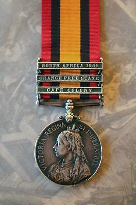 Qsa Queens South Africa Medal 3 Bar 1902 Cape Colony Orange Free State Boer War