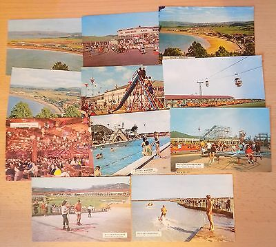 Small Collection (11) 1960's Postcards - Butlins Holiday Camp Minehead