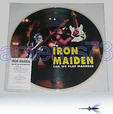 """Iron Maiden """"can We Play Madness"""" Rare Pdk Italy 1994"""