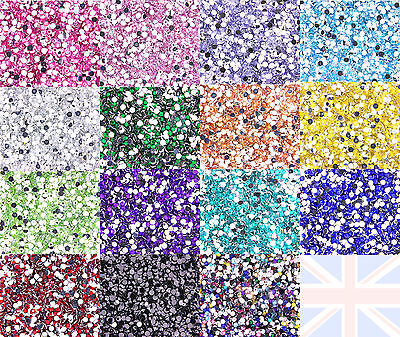 10g approximativement 1000 pièces STRASS Dos Plat ss16 4mm Decoden CHOISISSEZ