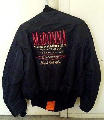 MADONNA - 1990 Pioneer Staff/Crew Embroidered Jacket /Coat- Blond Ambition Tour