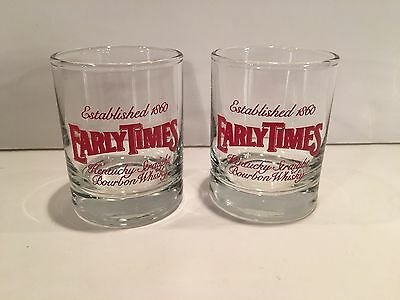 Two (2) Early Times Bourbon Whisky Shot Glasses