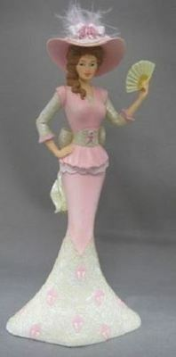 Thomas Kinkade Compassion Pink Victorian Lady Figurine - NEW