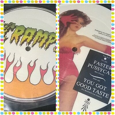 "The Cramps - Faster Pussycat / You Got Good - 7"" Vinyl Picture Disc Rare"