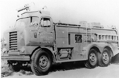 1960's FWD Fire Truck Seattle Factory Photo ca6301