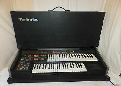TECHNICS PCM Sound SX-C300 Electronic ORGAN Keyboard SYNTH Cased EFFECTS