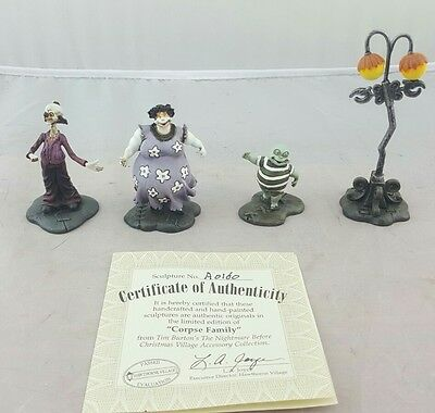 Hawthorne Village Corpse Family  Nightmare Before Christmas with COA