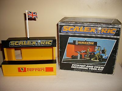 Scalextric  C703,  Pit Stop And Crew Including Tool Kit (Boxed) (Vintage Rare)