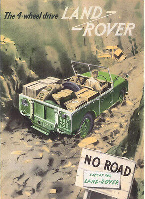 Land Rover Series 1 MODERN postcard isuued by Merely Motoring