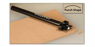 "Craftool Corner Round Punch Small 9/16"" (14mm) Tandy Leather# 3780-00 Free Ship"