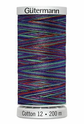 Gutermann Sulky Cotton 12, Colour 4109, VARIEGATED MULTI, 200m Spool Embroidery