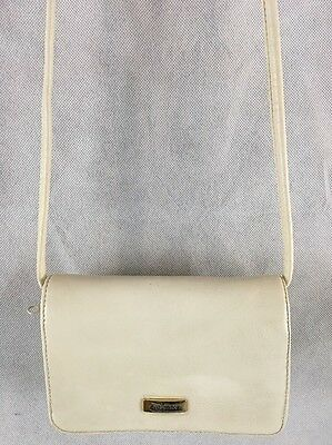 "KOLTOV Purse Handbag White Clutch or Shoulder Bag 9.5"" x 6"" Removable Strap"