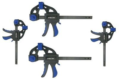 4pc Bar Clamp & Spreader Set  2 large - 6 Inch and 2 small - 4 Inch