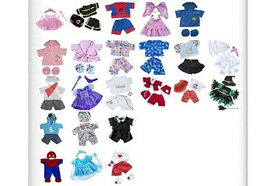 "Teddy Bear Clothes Outfits to fit 8"" 20cm build a bear and bear factory teddies"