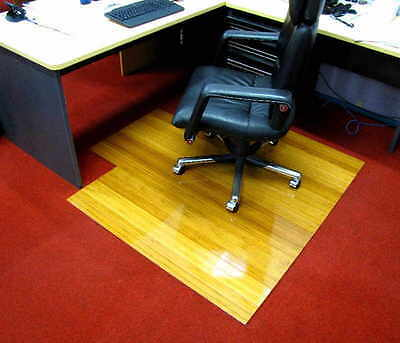 WOODEN / CLEAR NATURAL BAMBOO CHAIR MATS $50 +  FREIGHT ,Size: 110 X 130