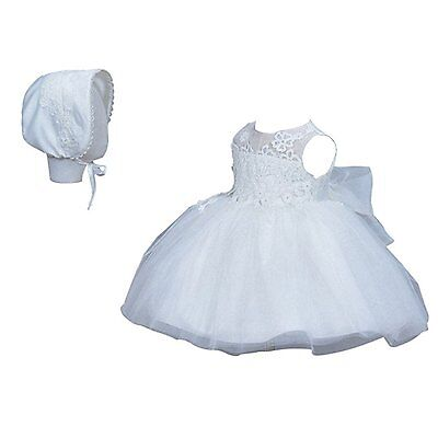 Sisjuly Embroidered Christening Baptism Gown Baby Dress White 6M/3-6 Months