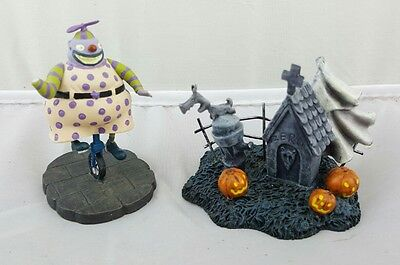 Hawthorne Village Nightmare Before Christmas Lot damaged clown zeros tombstone