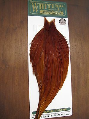 Fly Tying Whiting Bronze Rooster Cape Medium Brown #A