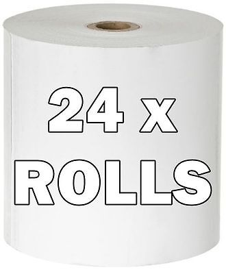 24 x Thermal Cash Register Receipt Paper Rolls POS Printers 80 x 80mm Epson,etc