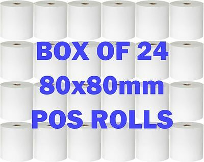 Carton/Box Thermal Cash Register Receipt Paper Rolls POS Docket Printers 80.80mm