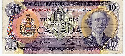 1971 Canada Ten 10 Dollar TG Replacement Bank Note A304