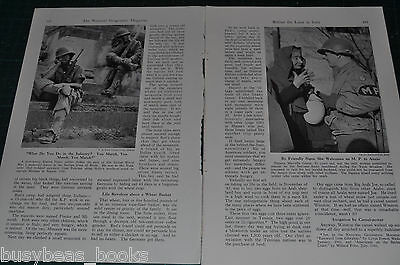 1944 magazine article, ITALY, Italian life behind US invasion lines, home front