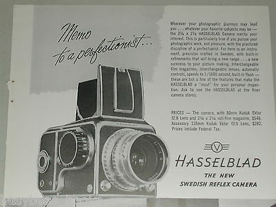1951 HASSELBLAD advertisement for Hasselblad 1600 Camera, vintage print ad