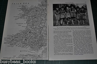 1944 magazine article, WALES IN WARTIME, WWII, home front, military etc