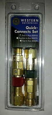 Western QDB10 Torch to hose Quick Connect Made In USA 9/16-18 UNF Thread B Size