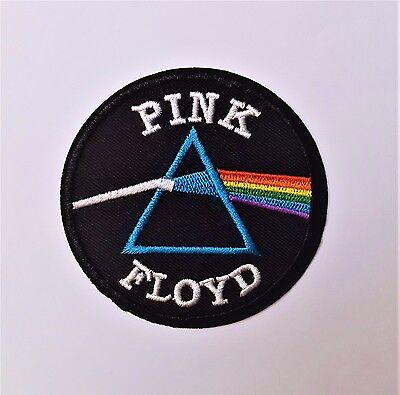 """Pink Floyd 3"""" Band Embroidered Iron on/ Sew on Logo Patch"""
