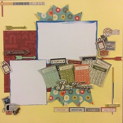 handmade scrapbook page 12 X 12 Travel Holiday Themed Layout