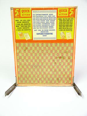 Large Unpunched Cigarette Punchboard Camel, Lucky Strike, Old Gold, Chesterfield
