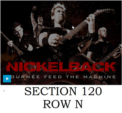 2 tickets Nickelback with Daughtry at Bell Centre, Montreal Thu, Jun 2