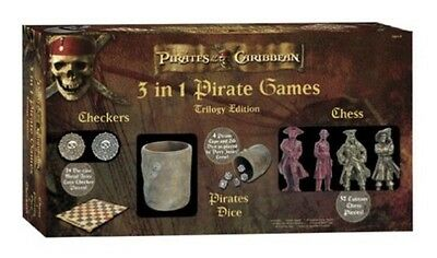 Pirates of the Caribbean At World's End 3 in1 Trilogy Edition Chess Dice Checker