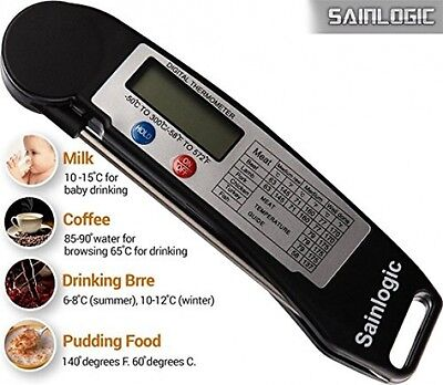 Sainlogic Ultra Fast Cooking Thermometer,Digital Instant Read Thermometer with