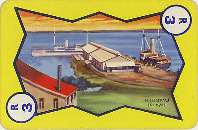 Vintage Single Swap Game Card: Kisumu, Kenya.