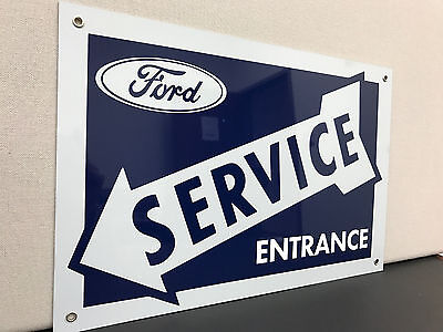 Ford Service advertising sign vintage baked large