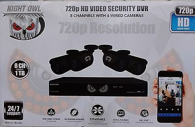 Night Owl 8-Channel 1080 Lite 1TB Surveillance DVR with 4 x 720p Cameras