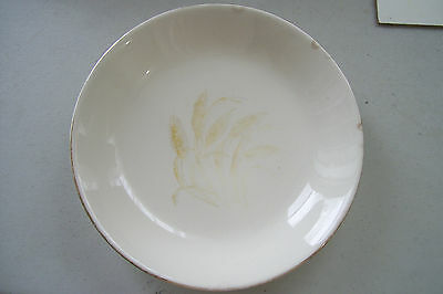 "Vintage Ceramic 7 1/4"" Soup Cereal Bowl Dish Wheat Design Unsigned"