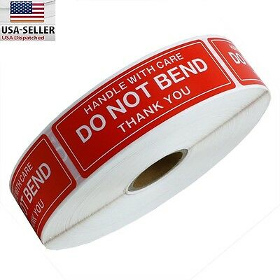 10 Rolls 1 x 3 DO NOT BEND HANDLE WITH CARE Stickers (1000 Per Roll)