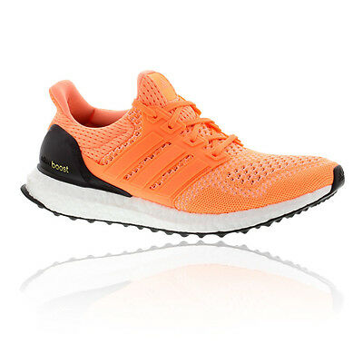 Adidas Ultra Boost Womens Orange Cushioned Running Road Shoes Trainers Pumps
