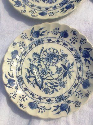 vintage staffordshire ironstone BLUE LILY  or blue onion 4423