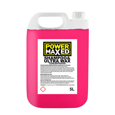 5L Car Wash Shampoo And Ultra Wax 5 Litres Concentrate - Power Maxed CSUW5000