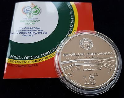 """Mds Portugal 10 Euro 2006 Pp / Proof """"fifa World Cup 2006 Germany"""", Silber"""