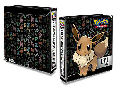 Eevee Pokemon Ultra Pro 2'' 3 Ring Album Folder Binder For 9 Pocket Page Sleeves