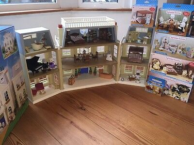 Sylvanian Families The Grand Hotel FULLY LOADED Bundle - Boxed Items In VGC