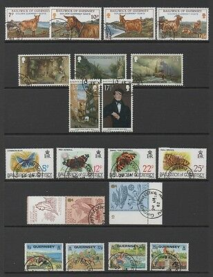 Guernsey 1980-81 Lovely Collection Of 7 Commemorative Sets  & Ms *fine Cto*